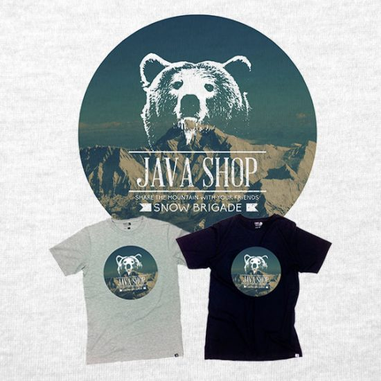 java shop snow brigade - tshirt design kinana