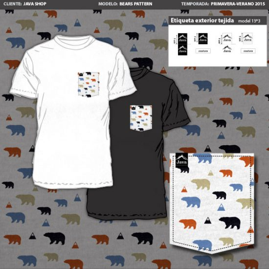 java shop bears pattern- tshirt design kinana